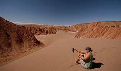 Zand! Heel veel zand! Valle de la Muerte, Cordillera de la Sal. Desierto de Atacama, Chili.