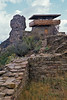 Ancestral Pueblo Ruins, Fire Lookout Tower (removed in 2010),  Chimney Rock Archaeological Area and National Historic Site, San Juan National Forest, Archuleta County, Colorado