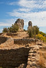 Ancestral Pueblo Ruins, Rock Pillars, Chimney Rock Archaeological Area and National Historic Site, San Juan National Forest, Archuleta County, Colorado