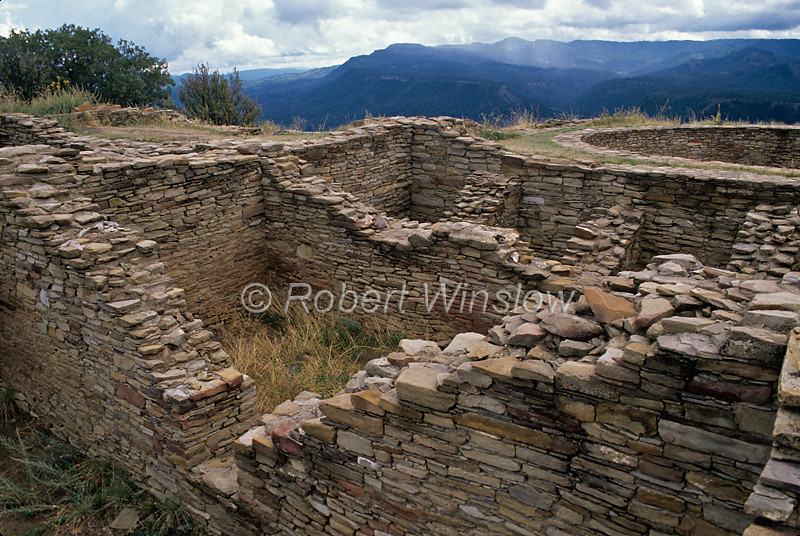 Ancestral Pueblo Ruins, Chimney Rock Archaeological Area and National Historic Site, San Juan National Forest, Archuleta County, Colorado