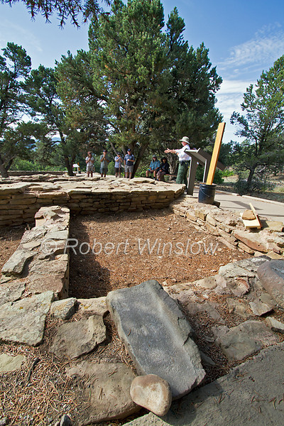 Mano and Metate, Guided Tour, Ancestral Pueblo Ruins, Chimney Rock Archaeological Area and National Historic Site, San Juan National Forest, Archuleta County, Colorado