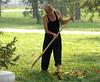 Sweeping at Xian (at the pagoda)