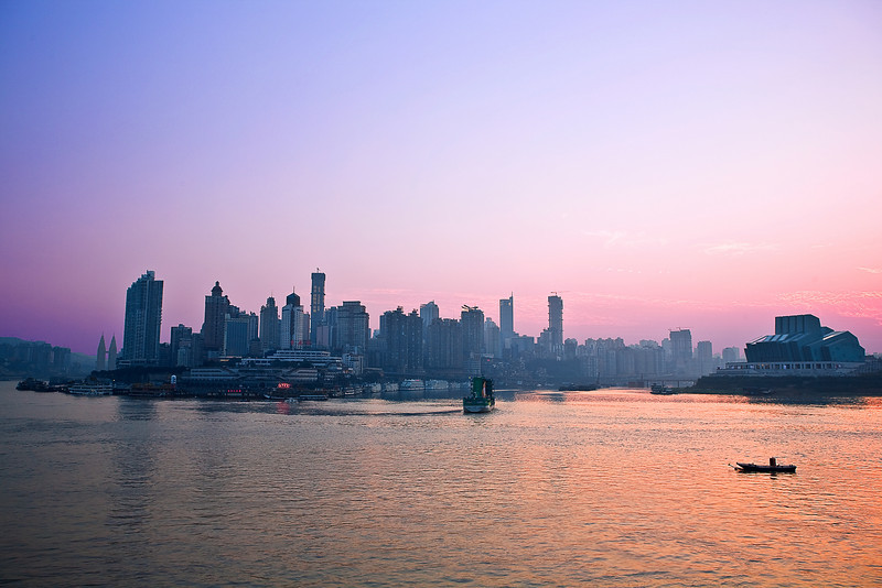 China, Chongqing, Yangtze River, Sunset Travel, Landscape 重庆 夜景 旅行