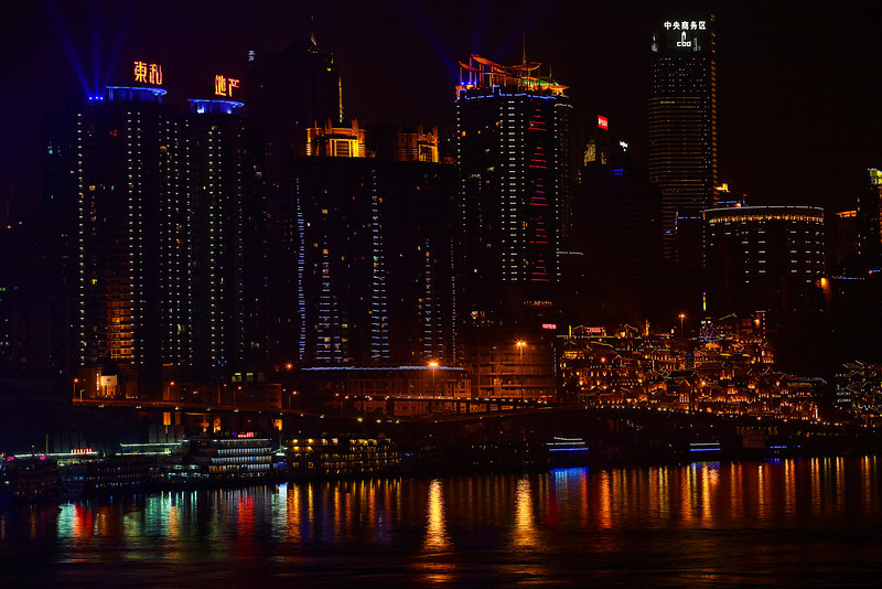 China, Chongqing, Yangtze River, Night View Travel, Landscape 重庆 夜景 旅行