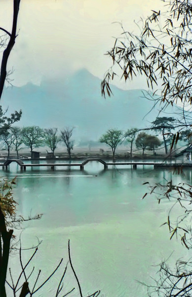 On the Li River, Sister Judi on her own trip in 1983 saw this same scene and captured this great photo.