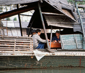 Houseboat on the Li river, Guilin.