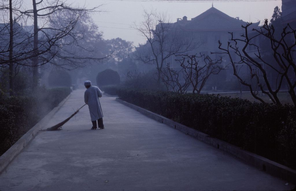 Street sweeper at the Sichuan Medical University in Chengu