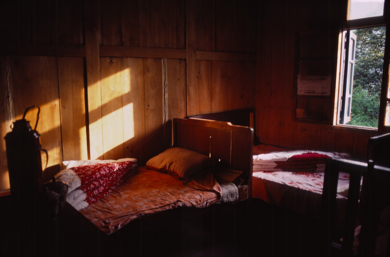 Our pleasant little guest room on our overnight hike down Emei Shan - it was run by the monks at a Buddhist temple on the mountain.