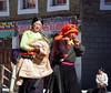 Tibetan women on street in Tagong