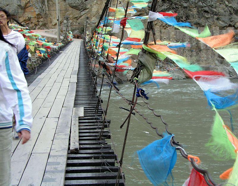 Bridge to village.