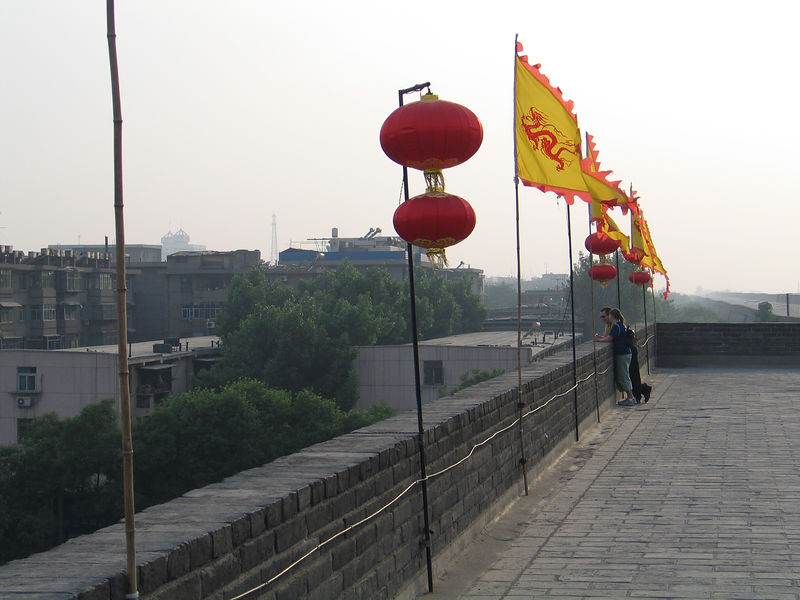 Ed and Robynn on the inner wall in Xi'an.