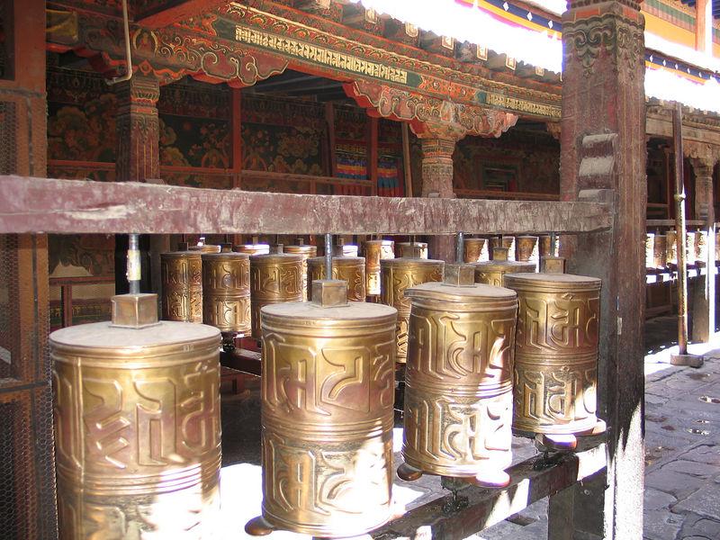 Buddhist prayer wheels (Lhasa)