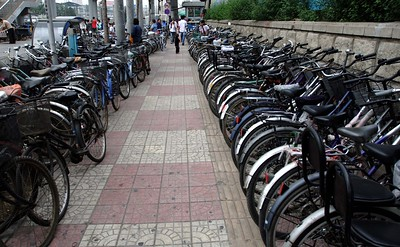 Beijing and bicycles are synonymous. You don't see scenes like this in Australia.