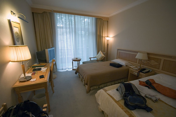 My room at the Beijing Friendship Hotel.