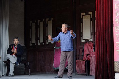 Performances in in one of the courtyards