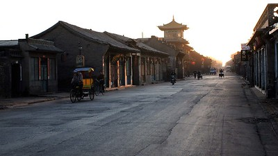 I got up early one morning to see the town waking. Pingyao wakes gradually and quite gently.