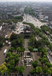 Suzhou: from the top of Beisi Ta pagoda