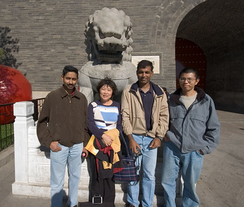 My co-workers (from left) Krishna, Gye Won, Abhinav, and Qingping.