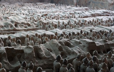 Terracotta Warriors. You've all seen them before. Here they are again.