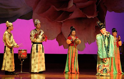 Shaanxi Grand Opera Opera House: Although most of the acts were quite serious, this one was actually quite funny. After playing this rather squeaky trumpet, the principal player interchanged with a very squeaky (Donald Duck-like) voice, if you can imagine that. Highly entertaining.