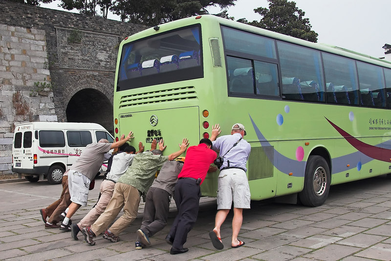 Suzhou - The bus won't start
