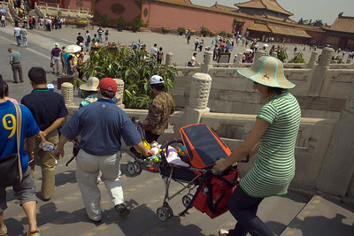 Forbidden City - John Scannapieco with his Chinese Family