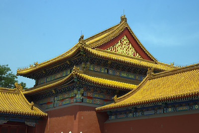 Forbidden City - Gate of Supreme Harmony (west corner)
