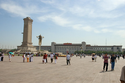 Tianenmen Square - Monument to the People's Heroes with China National Museum in the background