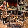 Preparing chickens, Fengdu, China