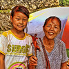 Mother and daughter with food for sale, Lesser Three Gorges