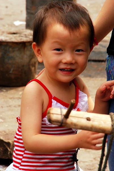 Little boy, Fengdu, China
