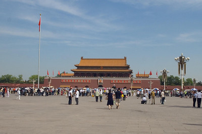 Tiananmen Square - National Flag and Forbidden City entrance