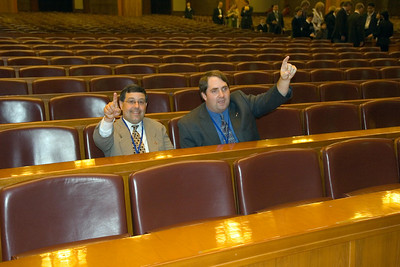 Great Hall of the People - Congress Hall - Chris and John Voting