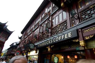 Cant escape it.  There's even a Starbucks inside the forbidden city.