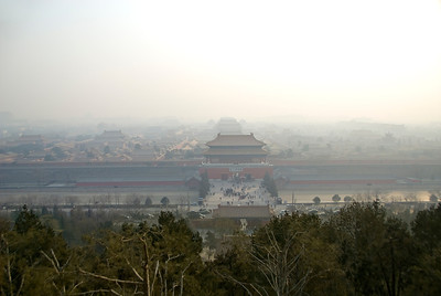 This classic image is from Jinshan Park, looking toward the Forbidden City. While Beijing has worked toward cleaner air, particularly since the 2008 Olympics, there was a constant smog layer. Xi'an, where we went later, was always smoggy.