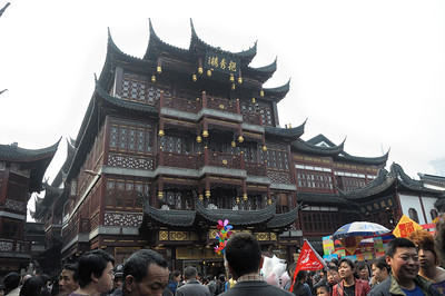 Market area outside Yuyuan Garden Shanghai
