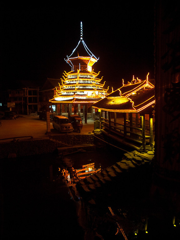 """Zhaoxing, a lovely wooden town in South East Guizhou, we spent 3 days here, this was the view from my room in the guest house, the guest house like all others was wooden, clean and close to the centre of town beside the river. more pictures are at > the odd landscape or at: <a href=""""http://agbr.smugmug.com/Travel/China-2010/The-odd-landscape/12351202_hHHsp#882697608_da9um"""">http://agbr.smugmug.com/Travel/China-2010/The-odd-landscape/12351202_hHHsp#882697608_da9um</a>"""
