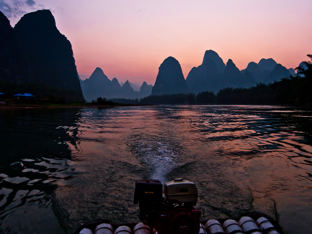 The very best way to see the river is on one of these small (4-5 person) bamboo rafts during those golden hours at dawn and sunset. We were so lucky this evening as all day it had been dull and overcast, then at the last moment, after about an hour on the river we got this...... I was a happy very bunny! Ready to catch my plane the next day.