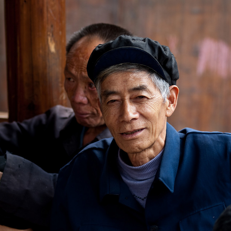One of many friendly Xijiang residents ... or is it Jack Straw?