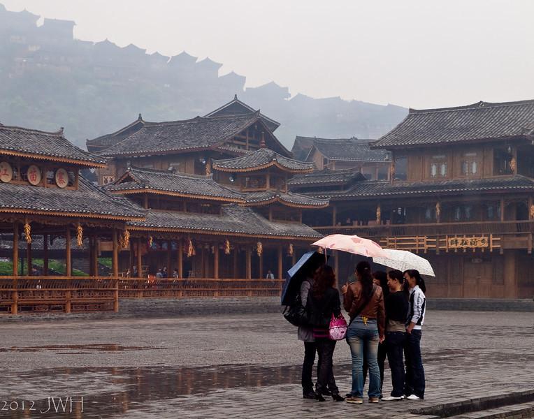 Re-edit  .. a wet morning in Xijiang