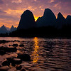 Li River at sunset (tweeked in Lightroom)