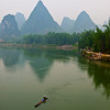 Li River, Yangshuo from the dragon bridge