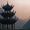 Zhenyuan: Wuyang Three Gorges in the distant dawn light