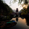 Zhenyuan pagoda on the bridge over the Wuyang River