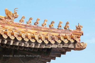 Roof detail Hall of Union and Peace in the Forbidden City.
