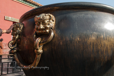 Brass urn at the Hall of Supreme Harmony in the Forbidden City.