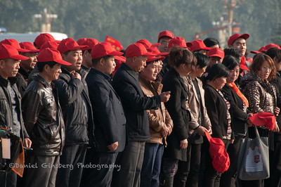 Chinese tour group in Tiananmen Square.