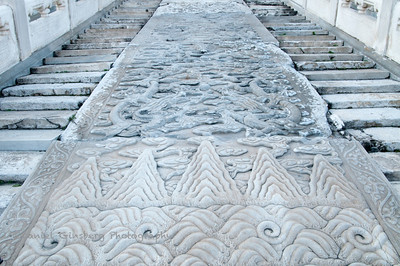 Steps the Emperor was carried over at the Hall of Supreme Harmony in the Forbidden City.