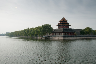 Moat side of the Forbidden City.