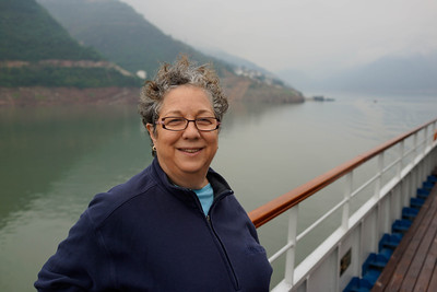 Renee Mirsky on Yangtze River